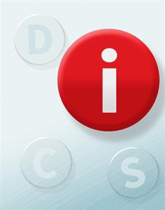 "DiSC® Buttons ""i"" Red (set of 10)"